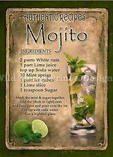 RETRO METAL PLAQUE :Mojito Cocktail sign/ad