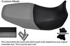 GREY AND BLACK CUSTOM FITS YAMAHA BT 1100 BULLDOG REAL DUAL SEAT COVER