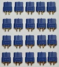 Buy in Bulk: 20 Genuine Blue Female XT60 / XT-60 Battery Bullet Connectors Plugs