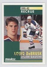 1991 Pinnacle French #347 Louie DeBrusk Edmonton Oilers Montreal Canadiens Card
