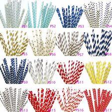 Variety Sets of 100 Paper Straws Birthday Wedding Baby Shower Party PSC1