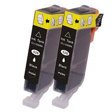 2 Canon CLI-526BK Black Printer Ink Cartridges 4540B001