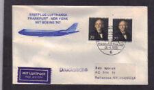 First Flight Lufthansa 747 Frankfurt, Germany to NY AMF