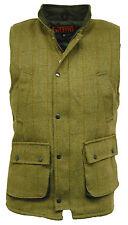Men's Light Sage Tweed Bodywarmer Gilet  Waistcoat Hunting Shooting Fishing New