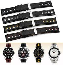 Genuine leather band strap bracelet (fits) TISSOT PRS516 Racing Sport & buckle
