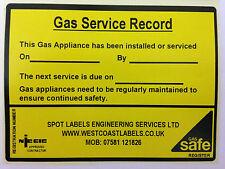 Registro de servicio de gas grandes Etiquetas De Seguridad Personalizado Gratis