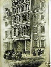 IRON BUILDING PHILA. ARCH ST. BURTON & LANING 1853 Art Print Matted