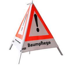 Warnpyramide Warnschild 70cm Baumpflege für Forst Waldarbeit Schild Absperrung