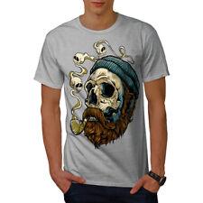 Wellcoda Head Face Beard Skull Mens T-shirt, 0 Graphic Design Printed Tee