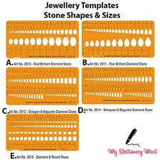 Plantilla Plantilla Dibujo Elaboración Tamaños Formas De Piedra Diseño Diamond Jewellery