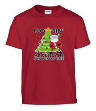 Kids Boys Girls Flossin Around The Christmas Tree T-Shirt
