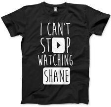 No puedo dejar de ver Shane-vlogger Star youtubers T-Shirt muchos Tamaños