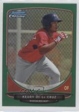 2013 Bowman Chrome Prospects Green Refractor BCP219 Keury De La Cruz Rookie Card