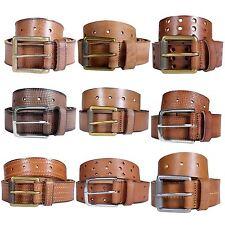Mens Reptile Skin Star Circle Cut Multi Stitch Design 40mm Leather Belts S-3XL