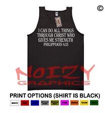 I Can Do All #1 Christian TANK TOP Jesus Religious Black Shirt  Philippians 4:13