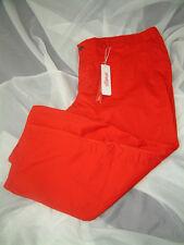 sheego CASUAL Farbstarke Damen Hose Stretchhose Kurzgröße 29 Rot NEU
