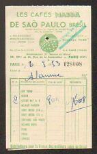 """PARIS (XV°) CAFES """"MASDA"""" de SAO PAULO Brésil , en 1953"""