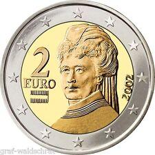 2 Euro ÖSTERREICH ab 2002 alle Jahre - unc - frei wählbar