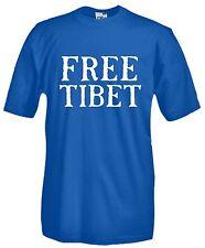 Maglia Free Tibet E08 Dalai Lama Om Buddismo Pacifismo No Guerra T-shirt cotone