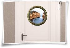 Porthole türaufkleber Door Sticker sea cliffs WC Toilet Bathroom Decor