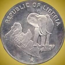 1973 Liberia 5 Dollar Coin (34.1 Grams .900 Silver)