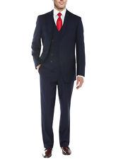 Salvatore Exte Mens Suit 3-Piece Two Button Blazer Jacket Flat Front Pants