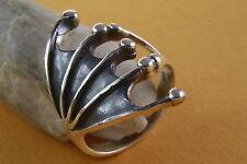 Design Ring Gothic Fledermaus Flügel  925 Silberring Silber 053