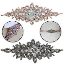 Diamante Motif Rhinestone Applique Patch for Embellishment Wedding Dresses Gowns