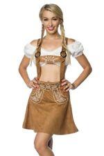 Style bavarois évasée jupe broderie femme marron salopette costume uy 70029