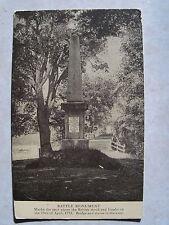 1910 Postcard: British Monument-Battle of Concord, Mass. Unused B&W Antique PC