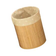 Faltbar Mülleimer Bambus rund Papierkorb holz Abfalleimer Für Küche, Bad