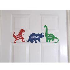 PORTA PERSONALIZZATA NOME Cartello targa per bambini Dinosauro camera da letto
