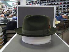 STETSON GRENADIER LODEN (OLIVE GREEN) FUR FELT C-CROWN DRESS HAT