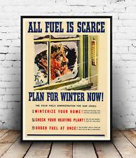 Le carburant est rare, l'information publique, publicité poster reproduction.