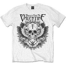 Bullet for My Valentine Camiseta Águila Calavera oficial con licencia para Hombre Blanco Camiseta Nuevo