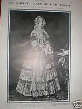 Queen Marie Amelie France Winterhalter print 1907