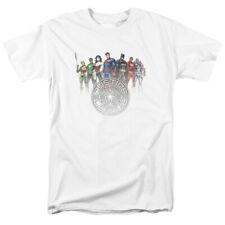 Justice League Circle Crest JLA DC Comics Licensed Adult T Shirt