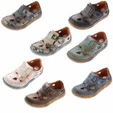 Damen Comfort Leder Halbschuhe TMA 7008 Sommer Schuhe Sandaletten Gr. 36 - 42