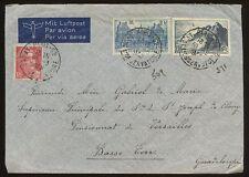 France 1948 airmail cover 36F à la guadeloupe