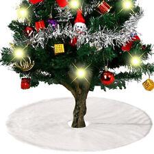 White Christmas Tree Skirt Plush Mat Party Xmas Snow Mat Cover Home Party Decor