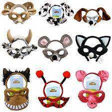 Animal Headband Mask Set Costume Cat Cow Mouse Dalmation Dog Lady Bug Sheep Pig