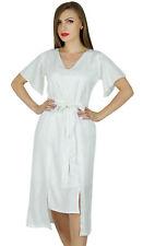 Bimba Women Asymmetrical Shift Dress Mid-Calf Length Summer Rayon Day Dresses