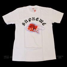 BRAND NEW SS16 SUPREME SASQUATCHFABRIX GOLD FISH TEE WHITE SMALL TRUSTED SELLER