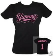 YUMMY MUMMY Women's T-shirt (Black/Pink) - Ideal Gift!