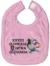 (TB316) TAUBEN hochwertige Lätzchen m. Einstickung • Olympiada Nitra Slovakia •