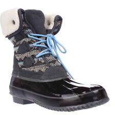 Khombu Womens Jenna Lace-Up Cold-Weather Boots Grey/Black 6 M and 9 M