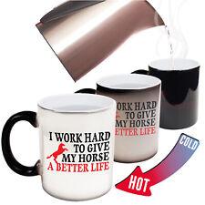 Funny Mugs I Work Hard To Give My Horse A Better Life Birthday MAGIC MUG