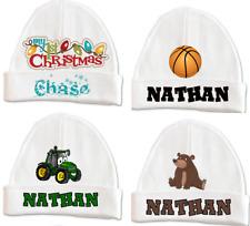 PERSONALIZED MONOGRAM CUSTOM Baby Boy Girl Infant Beanie Hat Keepsake 0-6 mos
