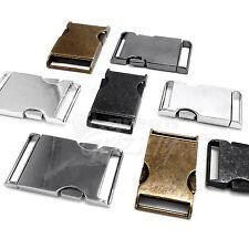 Metal side release buckles for 25 or 30 mm webbing nickel or antique brass