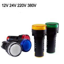 22mm LED Flash Indicator Signal Panel Warning Light AC/DC 12V/24V AC 220V/380V